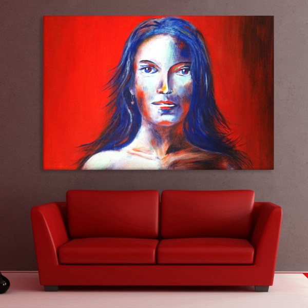 Canvas Painting - Beautiful Lady Art Wall Painting for Living Room
