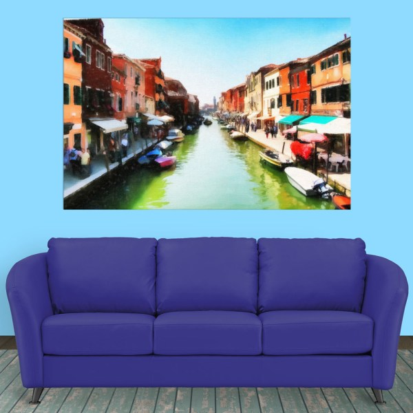 Canvas Painting - Beautiful Venice Italy Art Wall Painting for Living Room