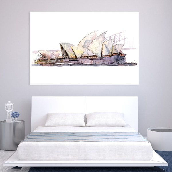 Canvas Painting - Sydney Opera House Australia Art Wall Painting for Living Room