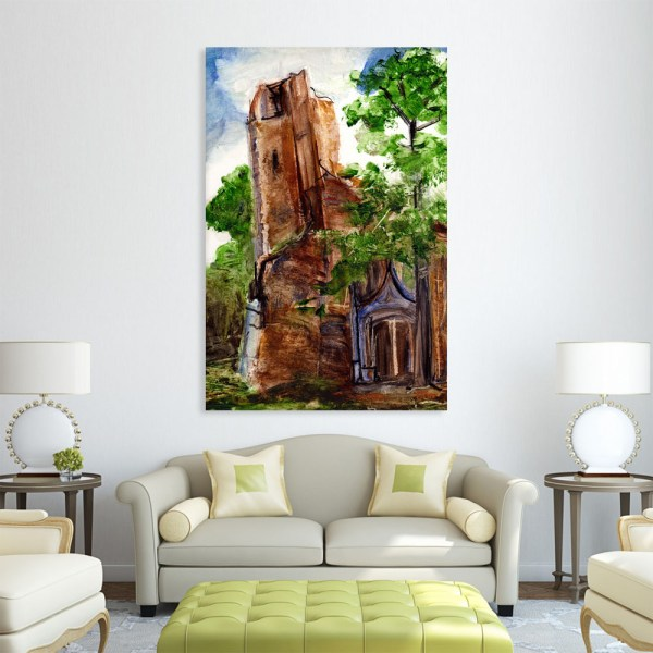 Canvas Painting - Beautiful Church  Art Wall Painting for Living Room