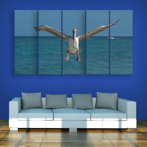 Multiple Frames Beautiful Bird Wall Painting for Living Room