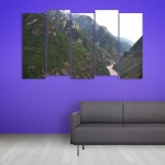 Multiple Frames Beautiful Hills Wall Painting for Living Room