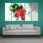 Multiple Frames Beautiful Strawberry Wall Painting for Living Room