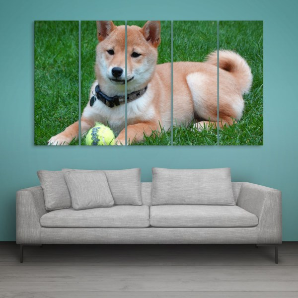 Multiple Frames Dog Wall Painting for Living Room