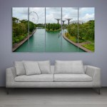 Multiple Frames Beautiful London Wall Painting for Living Room
