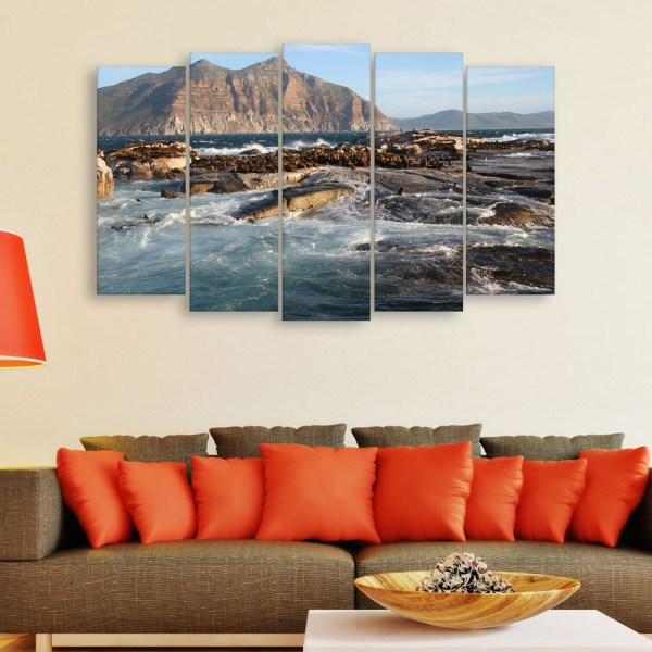 Multiple Frames Beautiful Ocean Wall Painting for Living Room