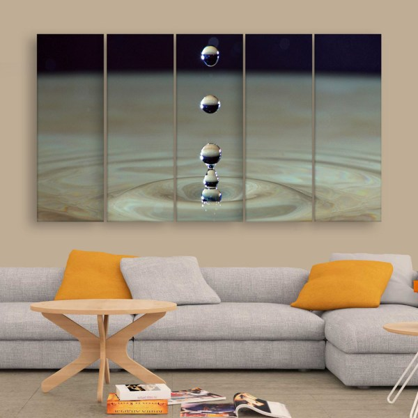 Multiple Frames Beautiful Water Droplets Wall Painting for Living Room