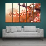 Multiple Frames Beautiful Flower Bird Cherry Wall Painting for Living Room