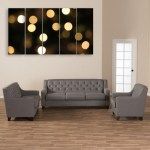Multiple Frames Beautiful Lights Wall Painting for Living Room
