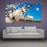 Multiple Frames Beautiful Orchard Flower Wall Painting for Living Room