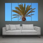 Multiple Frames Beautiful Palm Tree Wall Painting for Living Room