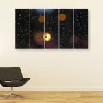Multiple Frames Beautiful Rain Wall Painting for Living Room