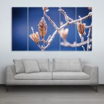 Multiple Frames Beautiful Winter Nature Wall Painting for Living Room