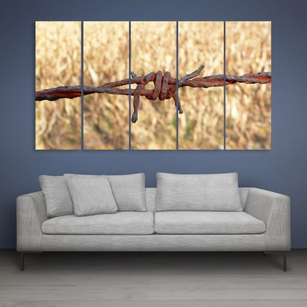 Multiple Frames Beautiful Wire Wall Painting for Living Room
