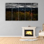 Multiple Frames Beautiful Nature Mountain Wall Painting for Living Room