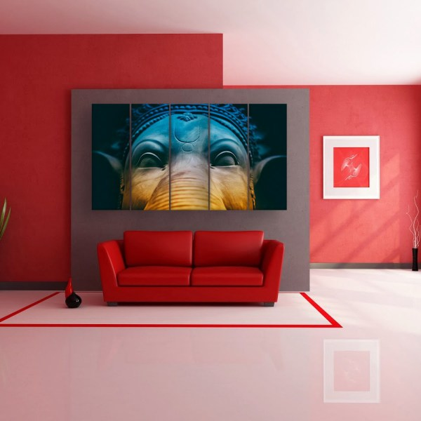 Multiple Frames Beautiful Lord Ganesha Wall Painting for Living Room