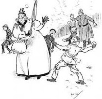 Children Snowballing Pic-m