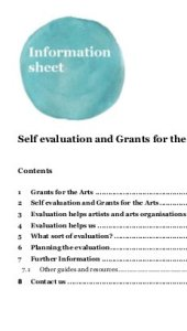 Self evaluation and grants for th arts