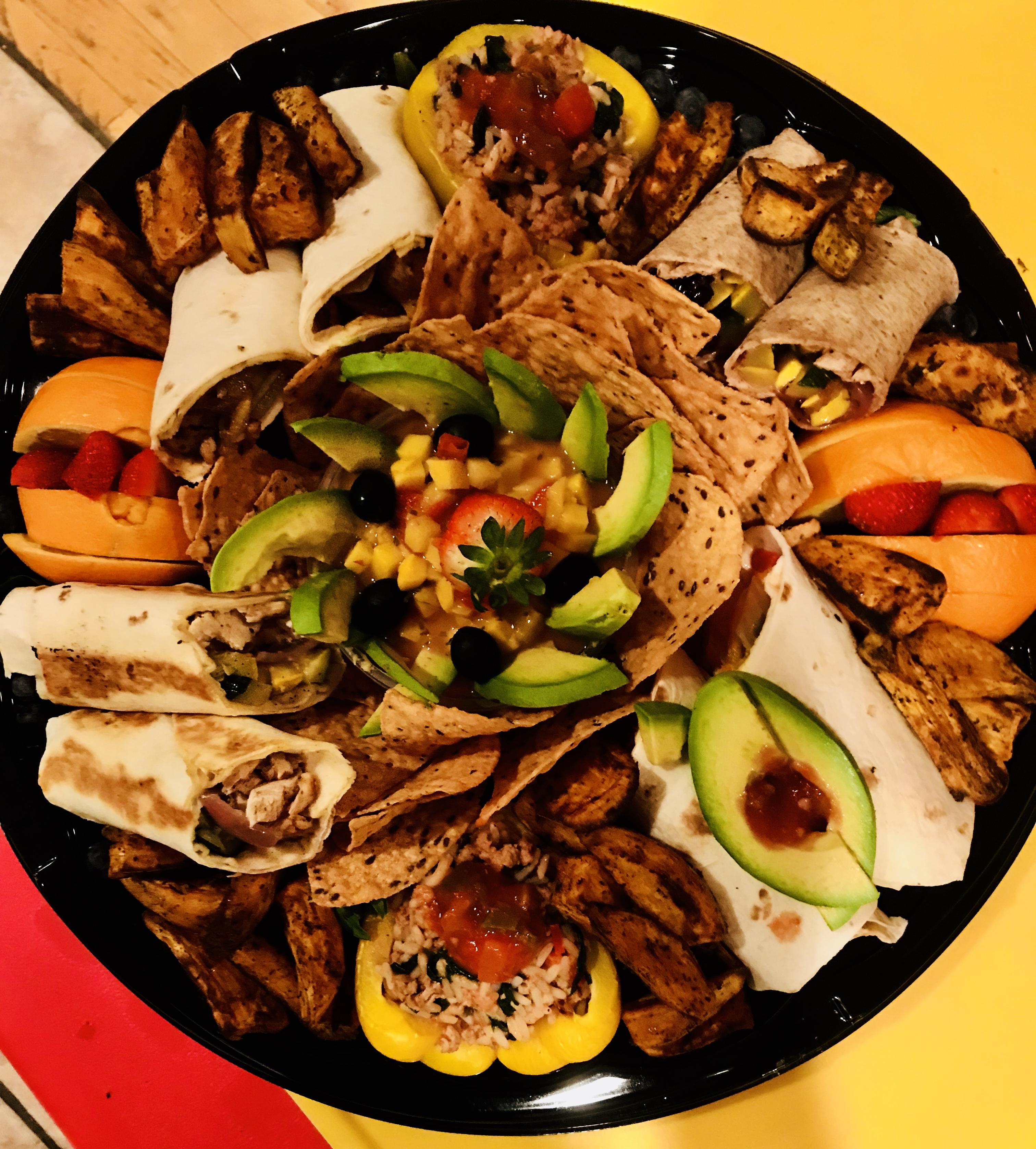 decorative organic sampler platter