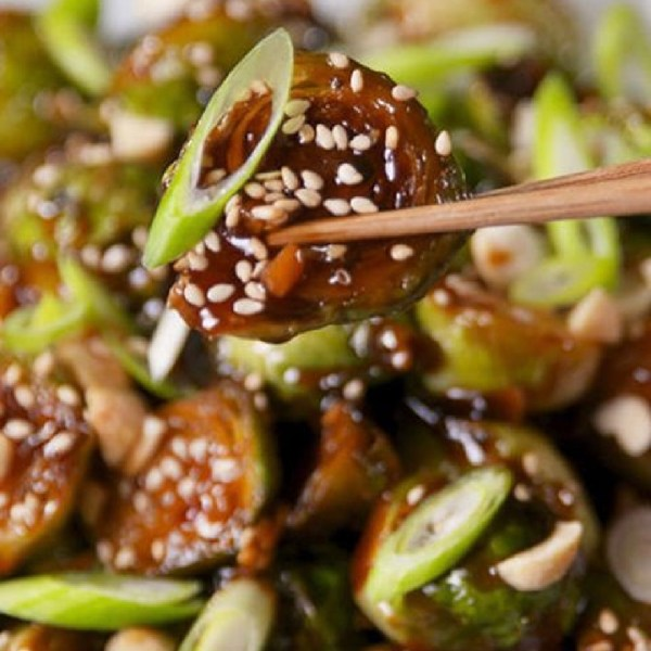 honey glazed brussels sprouts