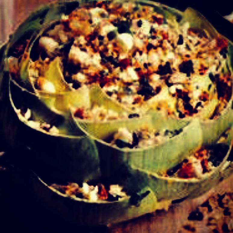 veggie stuffed artichoke
