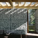 Realizzazione Struttura da Giardino con Gabbioni Metallici e Legno