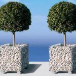 Vasi Ornamentali per Giardini con Gabbioni Metallici