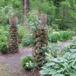 Supporto per Vasi con Gabbioni per Giardini