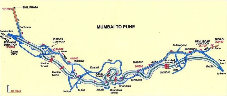 Road distance from mumbai to pune