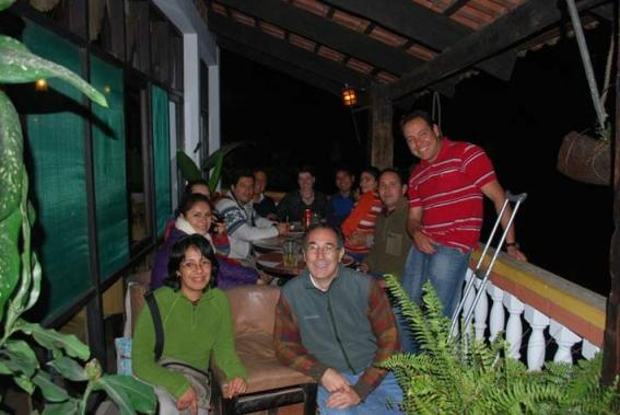 Participants at the REDD Game launch workshop near Coroico, Bolivia, August 2010. Includes Doris Villarpando, Nashira Calvo, Ioulia Fenton, Osman Burgoa, Luis Carlos Jemio, Lykke Andersen, Martin Vargas, Carlos Fuentes, Fernando Mendez, Eduardo Forno.