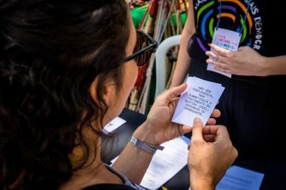 """Jogo explica direitos humanos durante """"Festival Mais direitos, mais democracia"""" (Inesc) Foto: Webert da Cruz"""