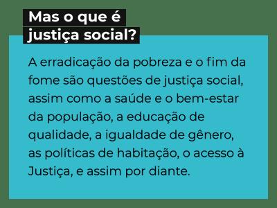 O que é justiça social?