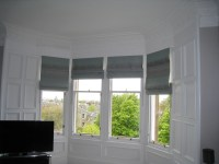 Roman blinds for bay windows  Ines Interiors  because it ...