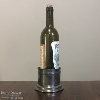Antique Silver Plate Wine Bottle Holder