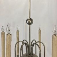 Mid Century Modern Pewter Chandelier - Inessa Stewart's ...
