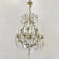 Antique Venetian Brass and Crystal Chandelier - Inessa ...