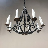 Antique Country French Wrought Iron Chandelier - Inessa ...