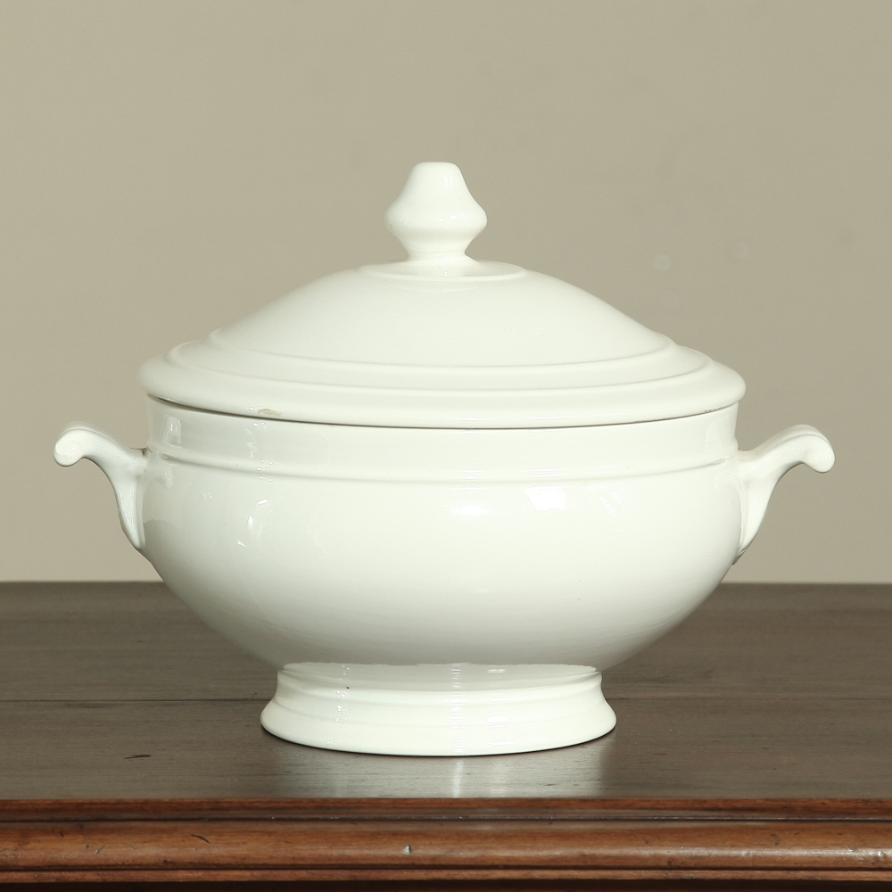 White Porcelain Tureen  Inessa Stewarts Antiques