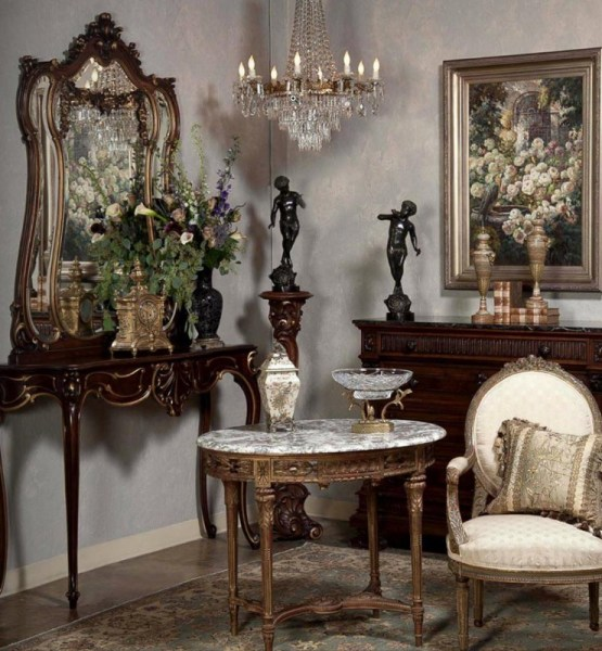 antique design living room Antiques In Style: Mirrors ~ Reflections of Beauty | Antiques in Style