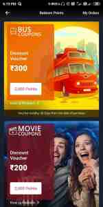 bus coupons and movie coupons