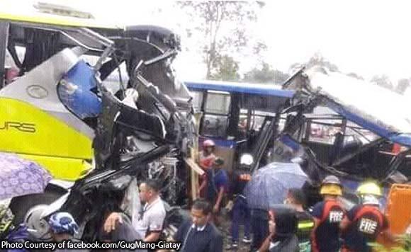 COMPOSTELA VALLEY 5 dead, 24 hurt in bus collision Bus