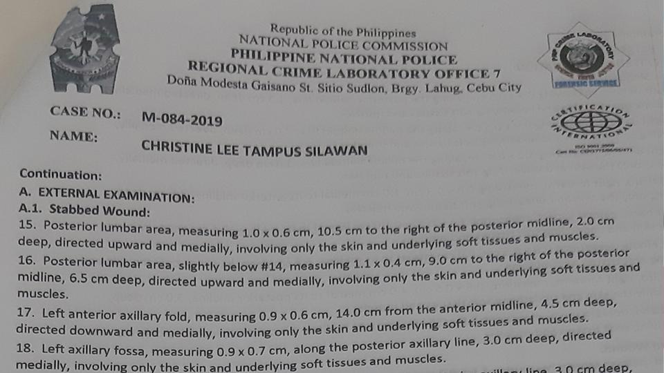 Silawan's autopsy report (1)