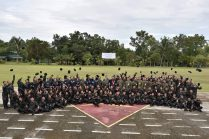 The army trained ISO policemen threw their caps in the air signifying their graduation inside the 3ID, PA in Jamindan, Capiz (PRO7 photos)
