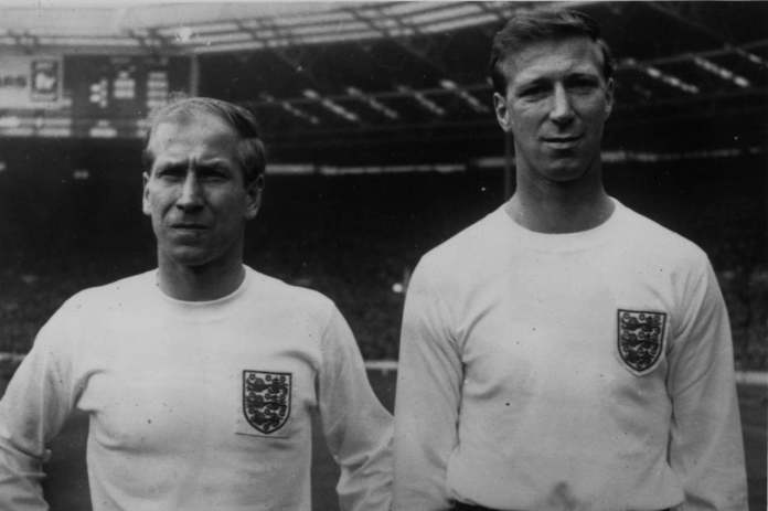 The brothers Bobby and Jack Charlton