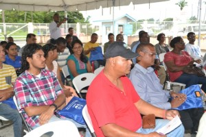 Voluntary blood donors at the Appreciation Ceremony held at the Blood Bank on East and Lamaha Streets in Georgetown