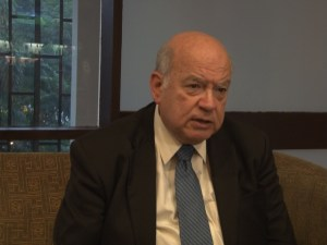 SG of the OAS Jose Miguel Insulza. [Photo: Shan Mohamed]