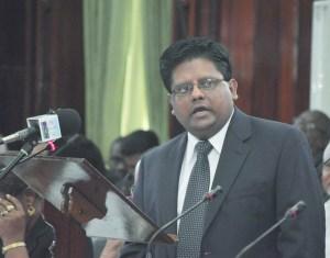 Finance Minister, Dr. Ashni Singh.