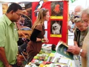 Guyana's booth at British Birdwatching fair