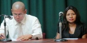 APNU Parliamentarian, Dr George Norton and Africo Selman. [iNew's Photo]