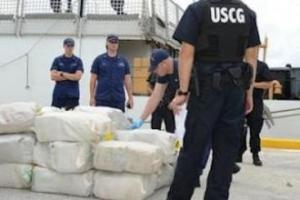 The US Coast Guard said the drugs offloaded in Florida last week stemmed from two different interdiction at sea.